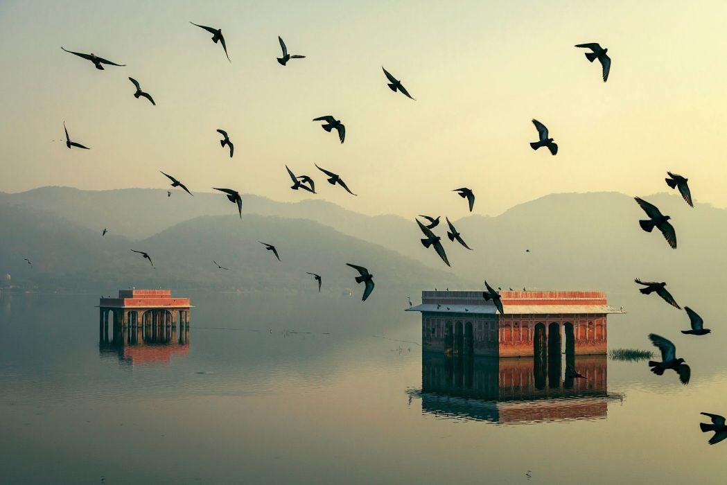 India Rajasthan Jaipur Morning light wallpaper