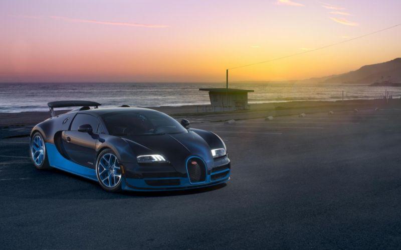 Bugatti Veyron Grand Sport Vitesse Supercar Supercar Sea Sunset Bugatti Veyron wallpaper