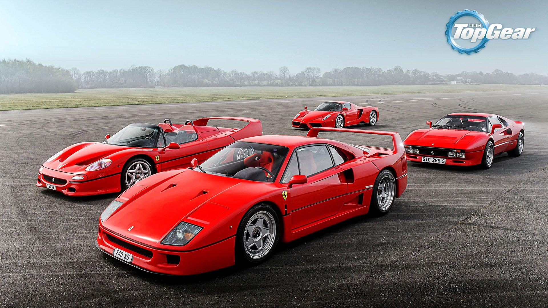 Ferrari 288 Gto F40 F50 Enzo Supercars Italian Red Track