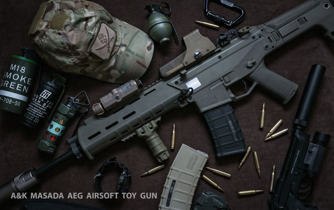 assault guns Military rifle weapons airsoft game toys wallpaper