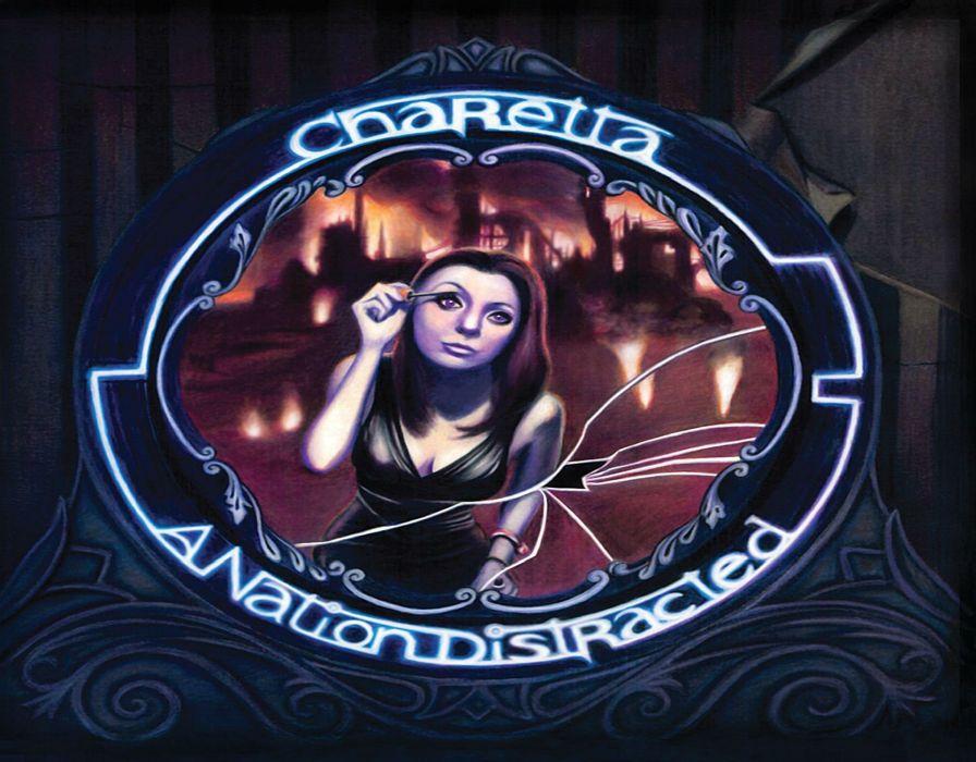 CHARETTA hard rock alternative babe gothic wallpaper
