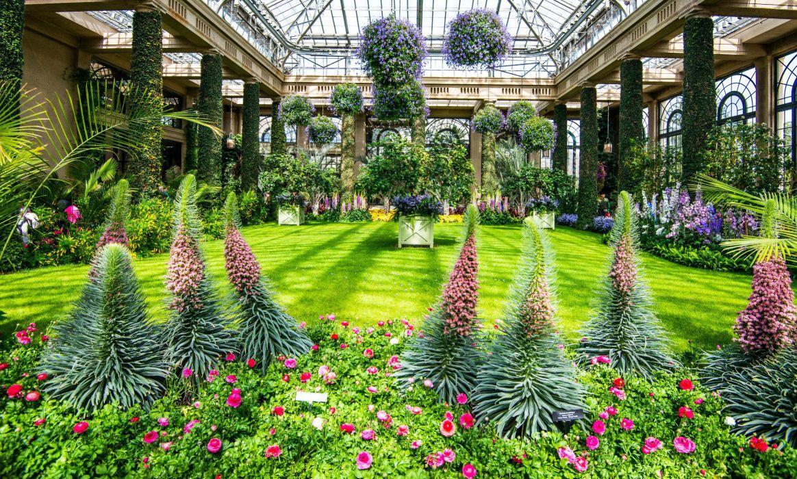 Gentil USA Parks Delphinium Roses Longwood Kennett Square Lawn Shrubs Nature Garden  Flowers Wallpaper