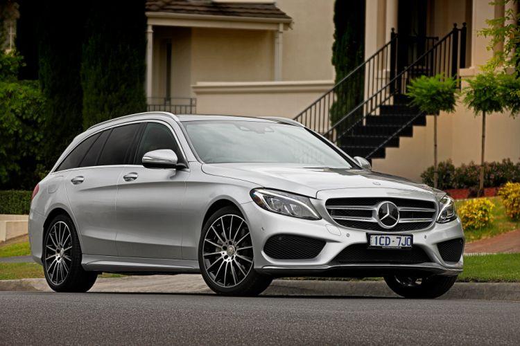 2015 Mercedes Benz C250 AMG Line Estate AU-spec S205 stationwagon luxury wallpaper