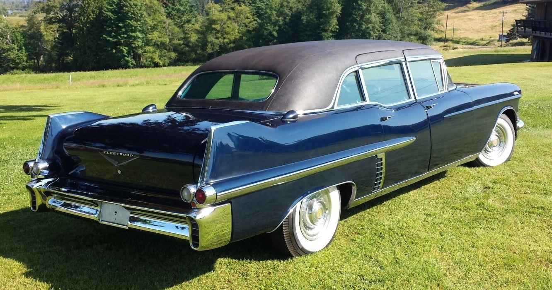 1957 Cadillac custom Limousine luxury retro wallpaper