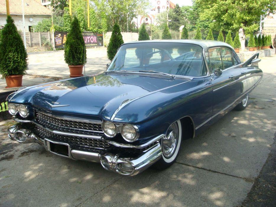 1959 Cadillac Fleetwood luxury retro wallpaper