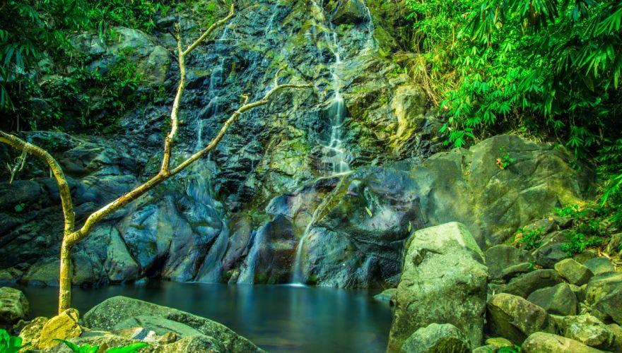 Thailand Waterfall Stones Khuekkhak Nature river wallpaper