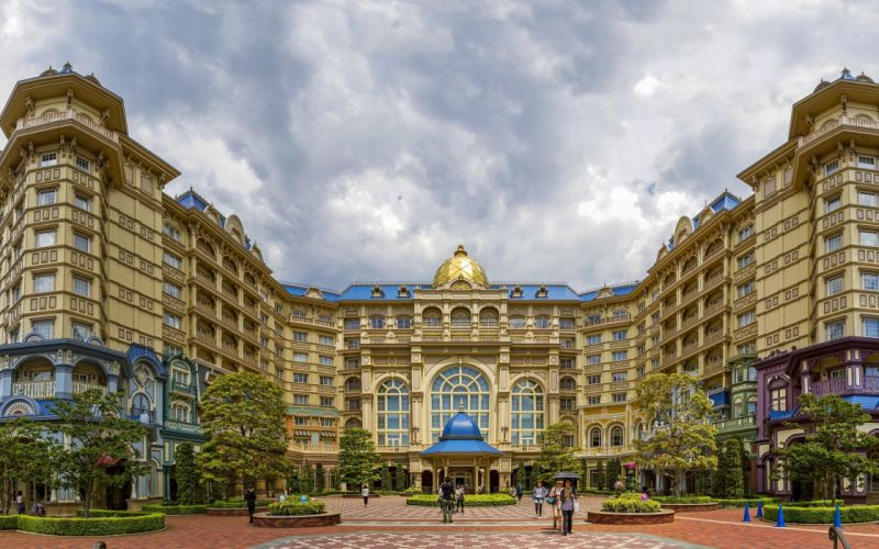 Disneyland Hotel Disney Tokyo Japan hotel building amusement wallpaper