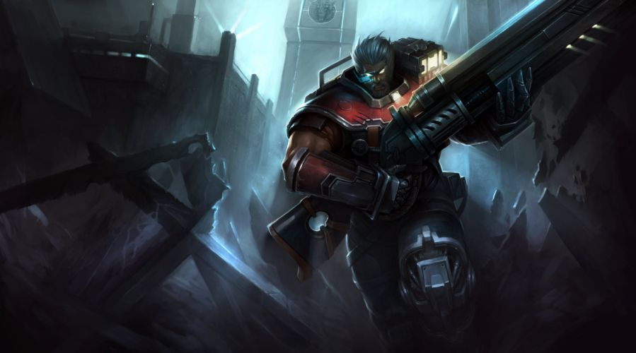 all male armor gray hair gun hanshu league of legends malcolm graves male short hair weapon wallpaper