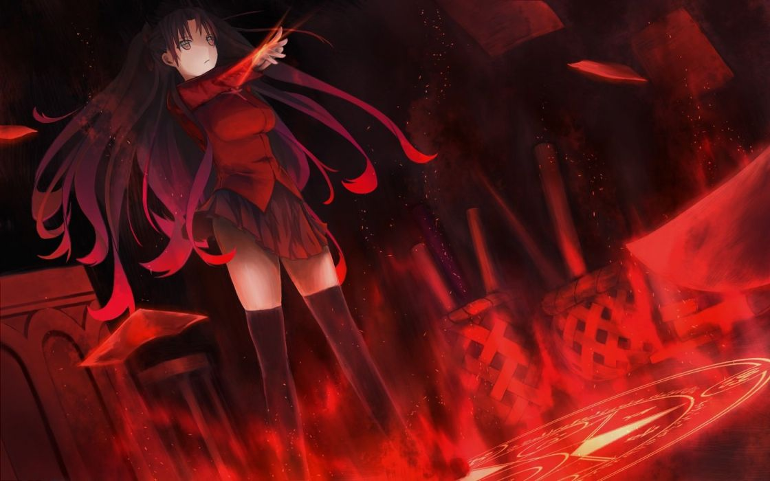 Fate stay night huang (phoenix) tohsaka rin wallpaper ...