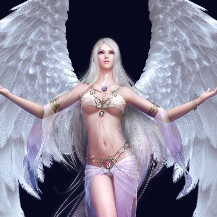 sexy girls wings angel Beauty pendant wallpaper