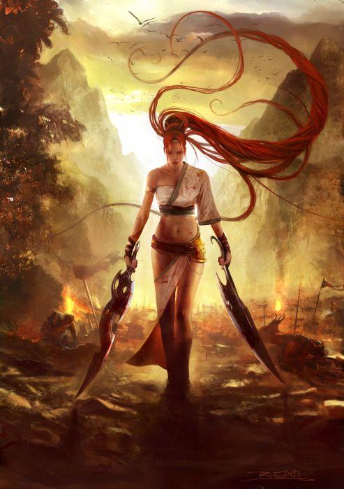 Heavenly Sword Nariko warrior girl blood war wallpaper