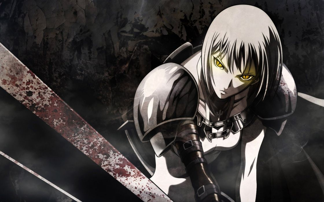 sword warrior Claymore manga wallpaper