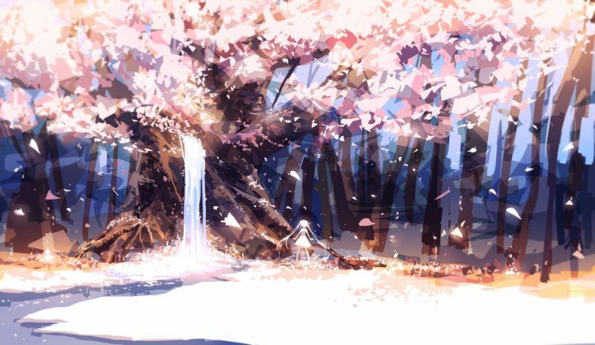 Forest leaves original petals prophet heart tree wallpaper