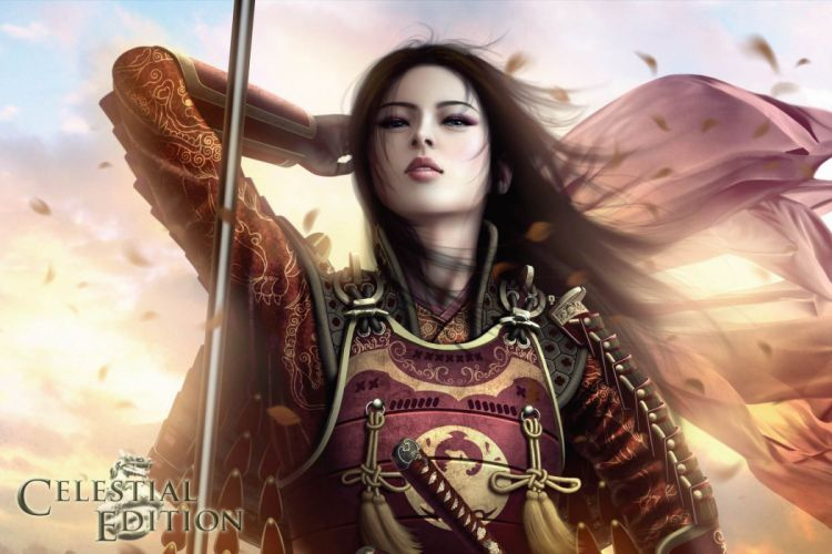 game girl asian warrior L5R Legend-of-the-Five-Rings fantasy online cardga wallpaper