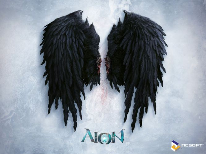wings black aion game blood wallpaper