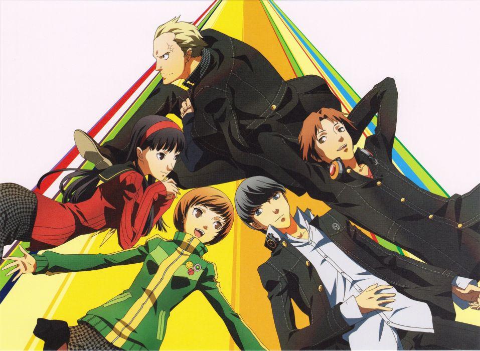 anime series friend group Shin Megami Tensei: Persona 4 wallpaper