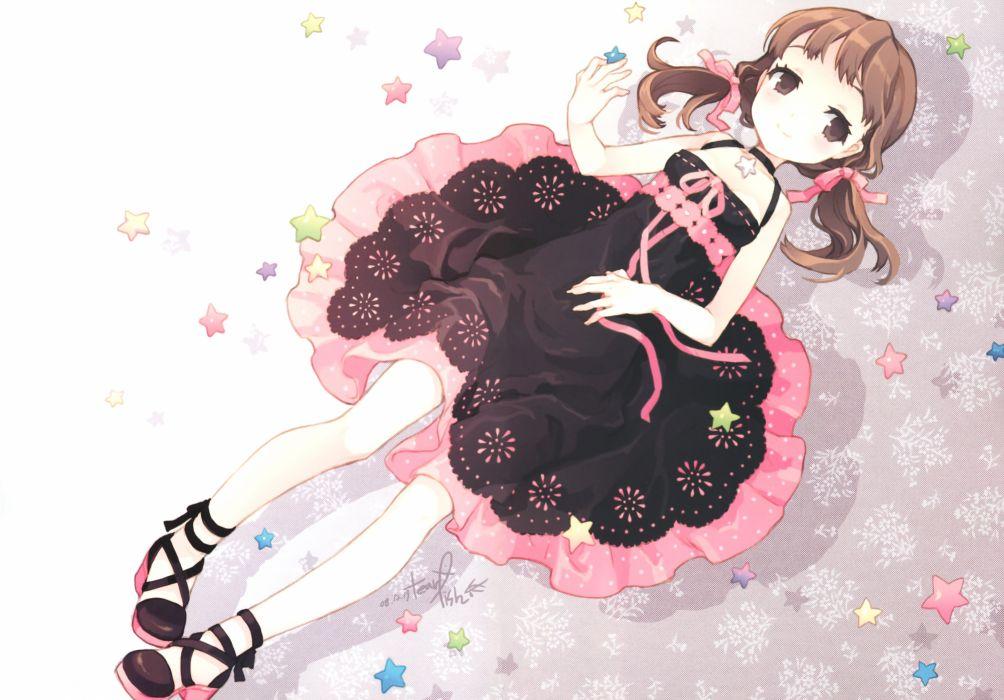 anime girl star color dress shin megami tensei persona Nanako  wallpaper