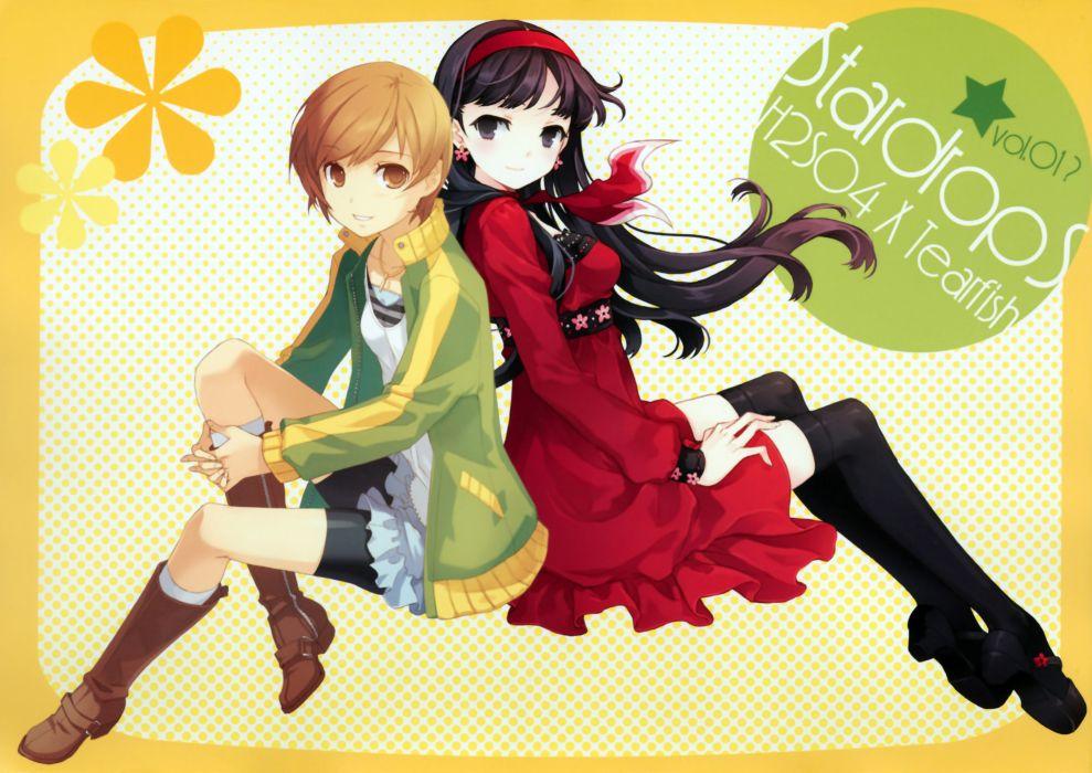 Shin Megami Tensei Persona 4 Chie Satonaka Yuki wallpaper