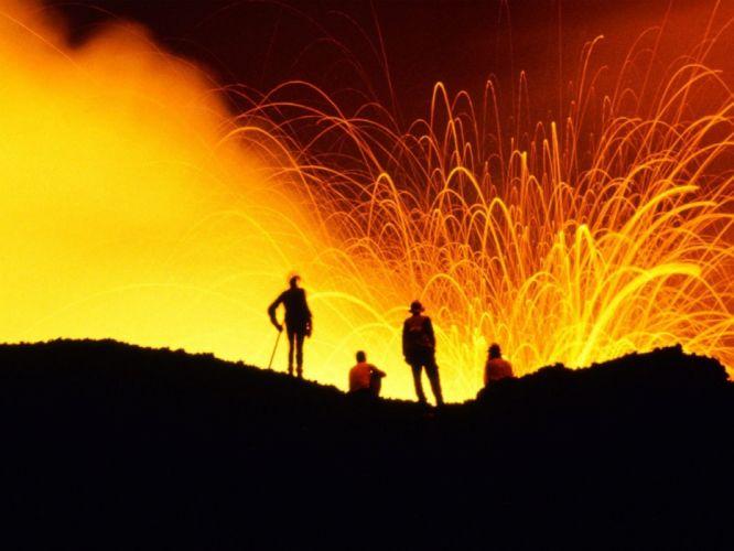 nature Hawaii big show Volcanoes peoples wallpaper