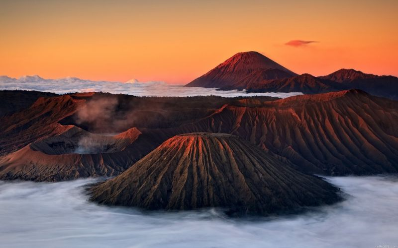 mountains nature Volcanoes Indonesia bromo wallpaper