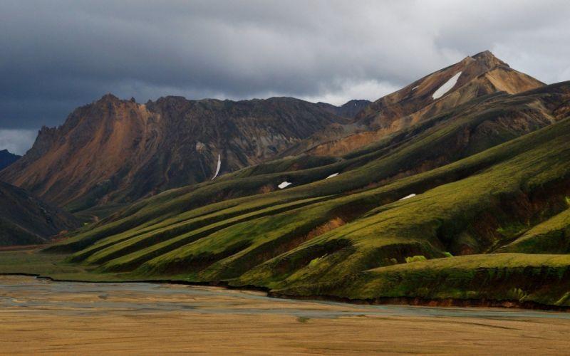 nature iceland Volcanoes landscapes Europe wallpaper