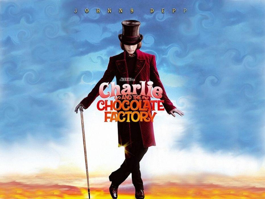 CHARLIE-CHOCOLATE-FACTORY depp adventure comedy family fantasy charlie chocolate factory musical wallpaper