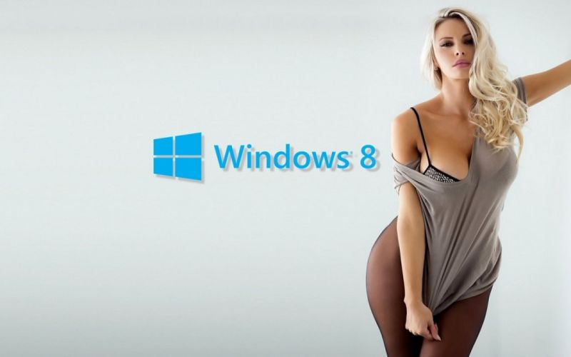 Windows 8 Girl wallpaper