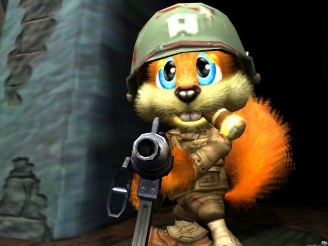 CONKER action adventure squirrel family platform conkers wallpaper