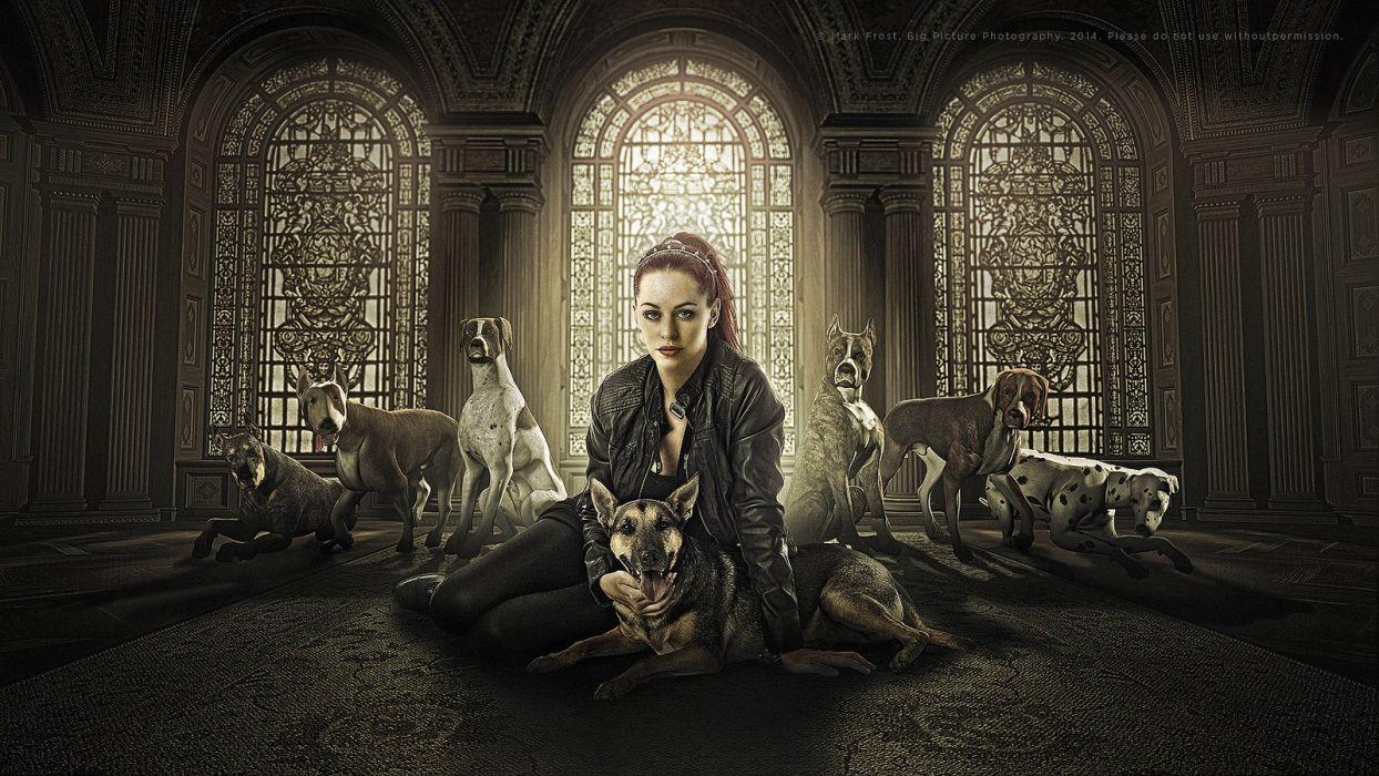 art fantasy dragon women wallpaper