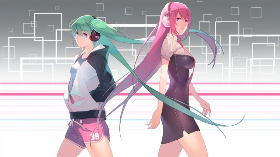 Vocaloid Megurine Luka Hatsune Miku Pocket wallpaper