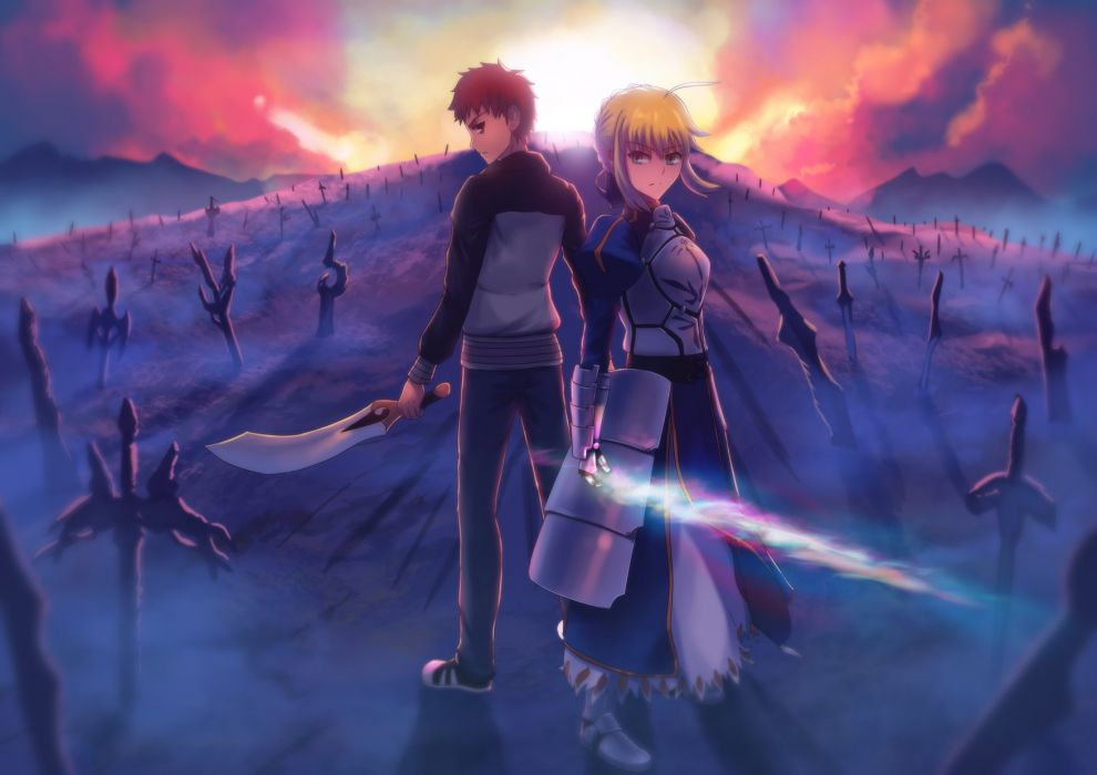 Fate Stay Night Emiya Shirou Saber Wallpaper