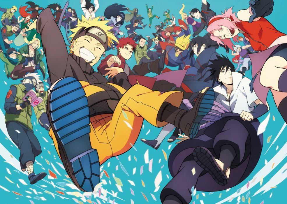 NARUTO Sai Inuzuka Kiba Temari wallpaper