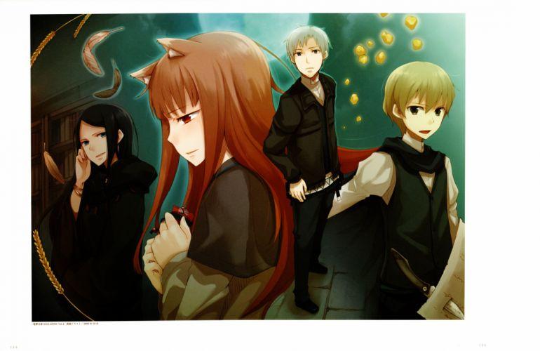 Ookami to Koushinryou Spice and Wolf Ayakura Juu Illustrations Horo Dian Rubens Kraft Lawrence wallpaper