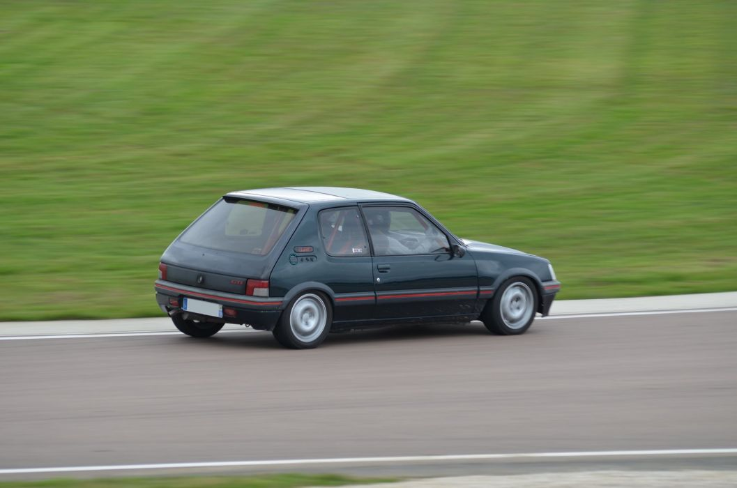 Peugeot 205 gti cars coupe french black wallpaper