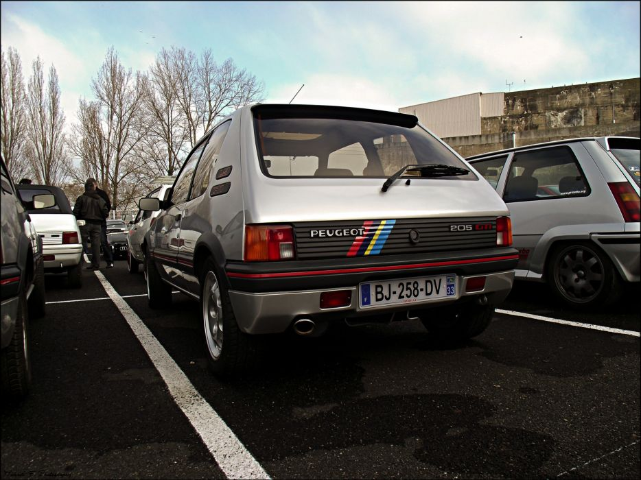 Peugeot 205 gti cars coupe french grey gris wallpaper