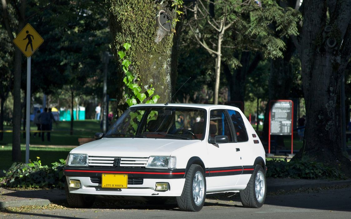 Peugeot 205 gti cars coupe french blanc white wallpaper