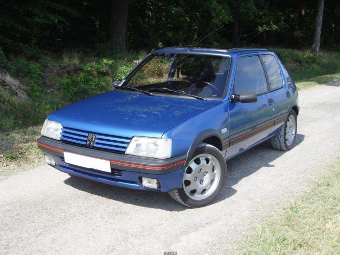 Peugeot 205 gti cars coupe french bleu blue wallpaper