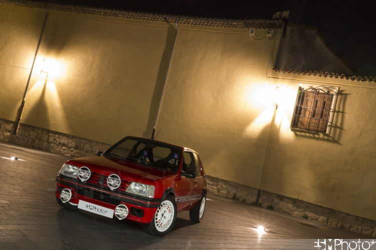 Peugeot 205 gti cars coupe french rouge red wallpaper