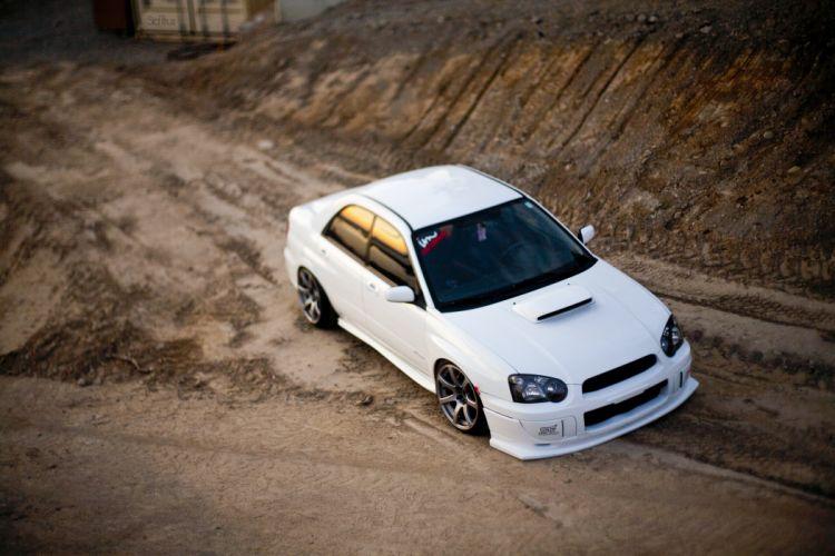 subaru impreza sti car vehicle wallpaper
