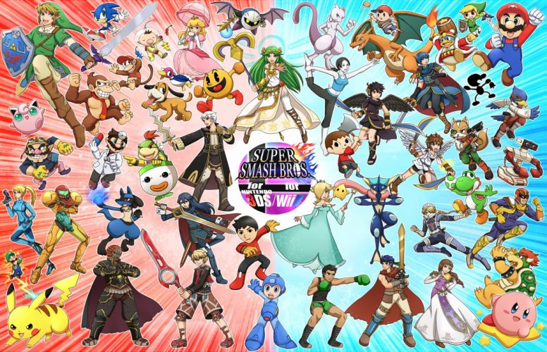 Nintendo Pac-Man Duck Hunt Wii Fit Super Smash Bros wallpaper