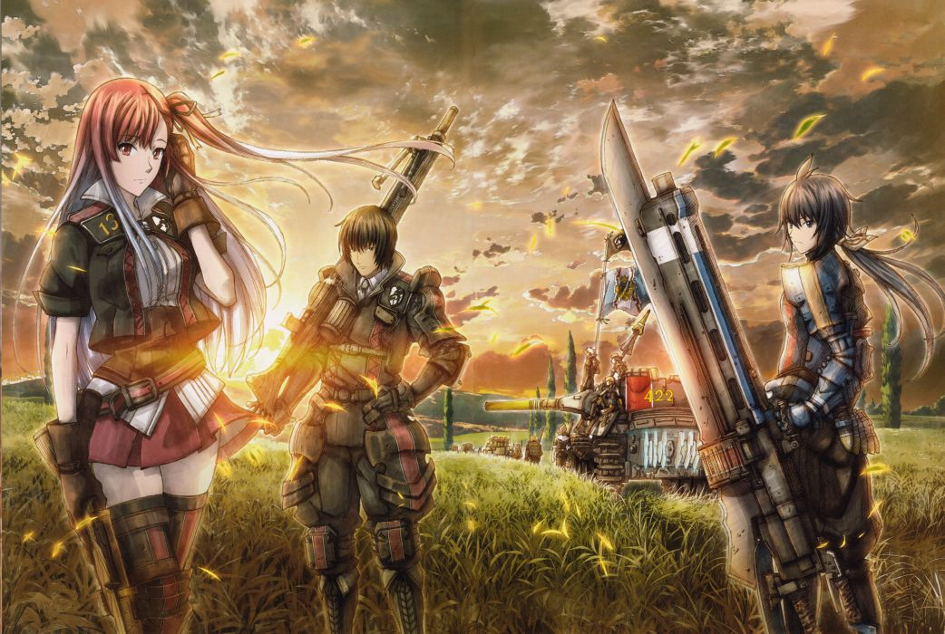 Valkyria Chronicles 3 Complete Artworks Riela Marcellis Imca wallpaper