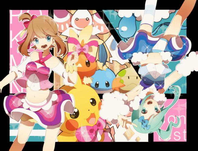 Nintendo Pokemon Torchic Pikachu wallpaper