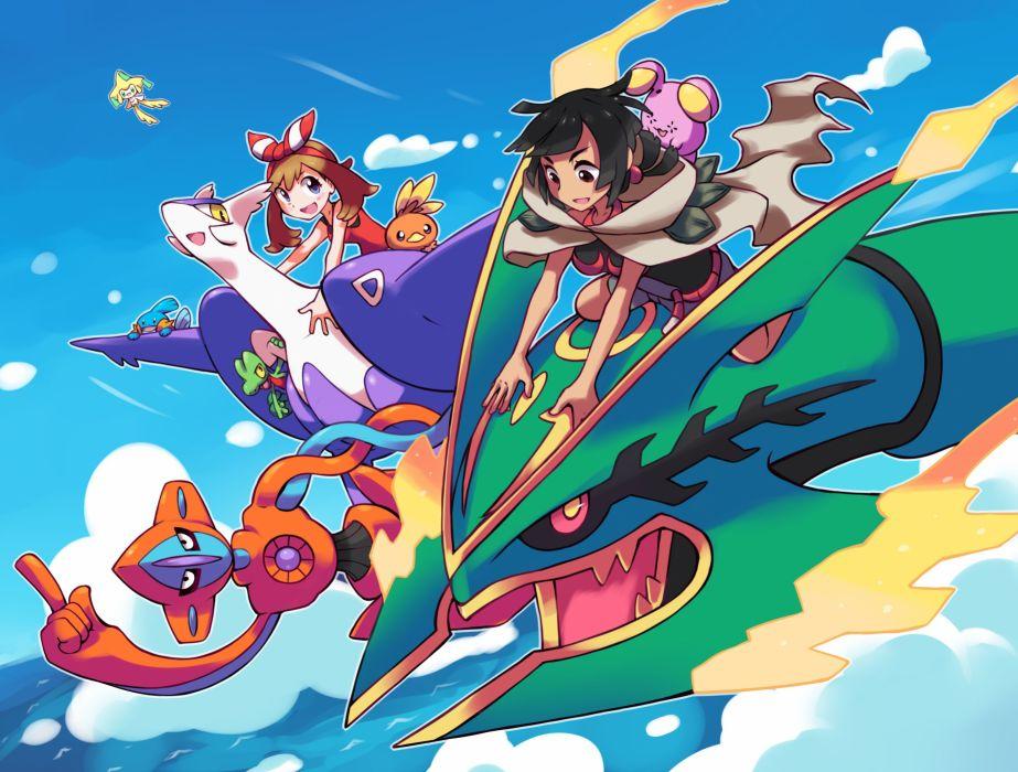 Nintendo Pokemon Rayquaza Mudkip wallpaper