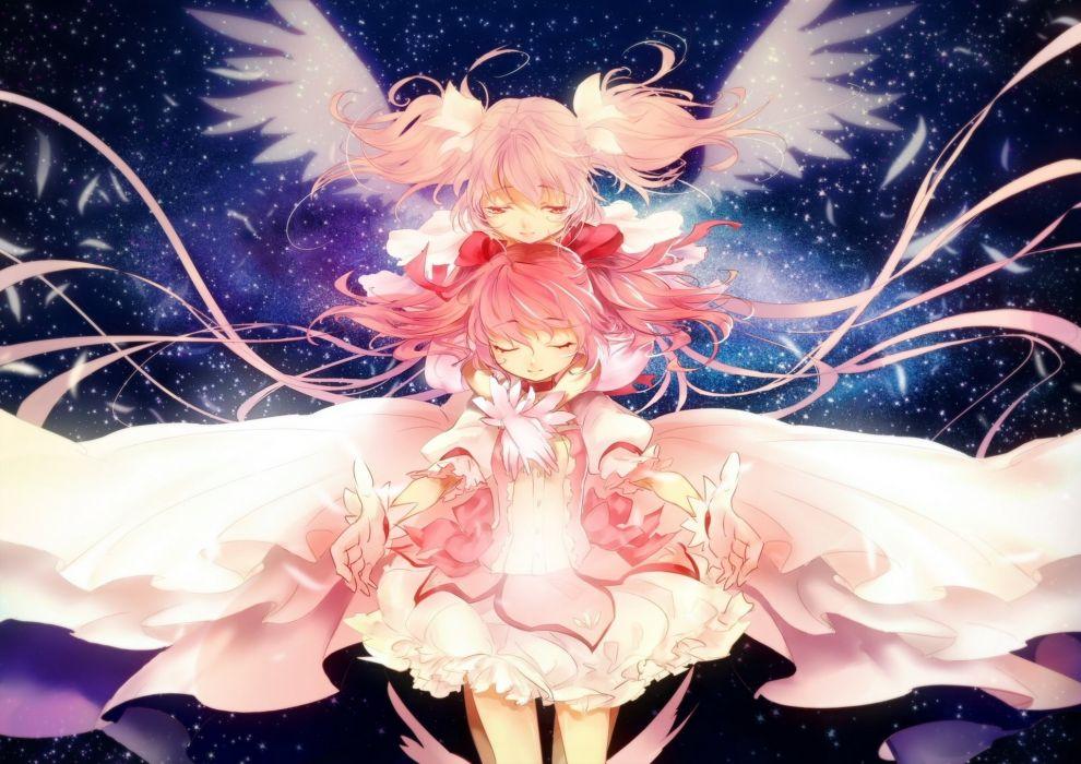 Mahou Shoujo Madoka Magica Angels kaname madoka ultimate madoka Dress Anime Girls fantasy angel wallpaper