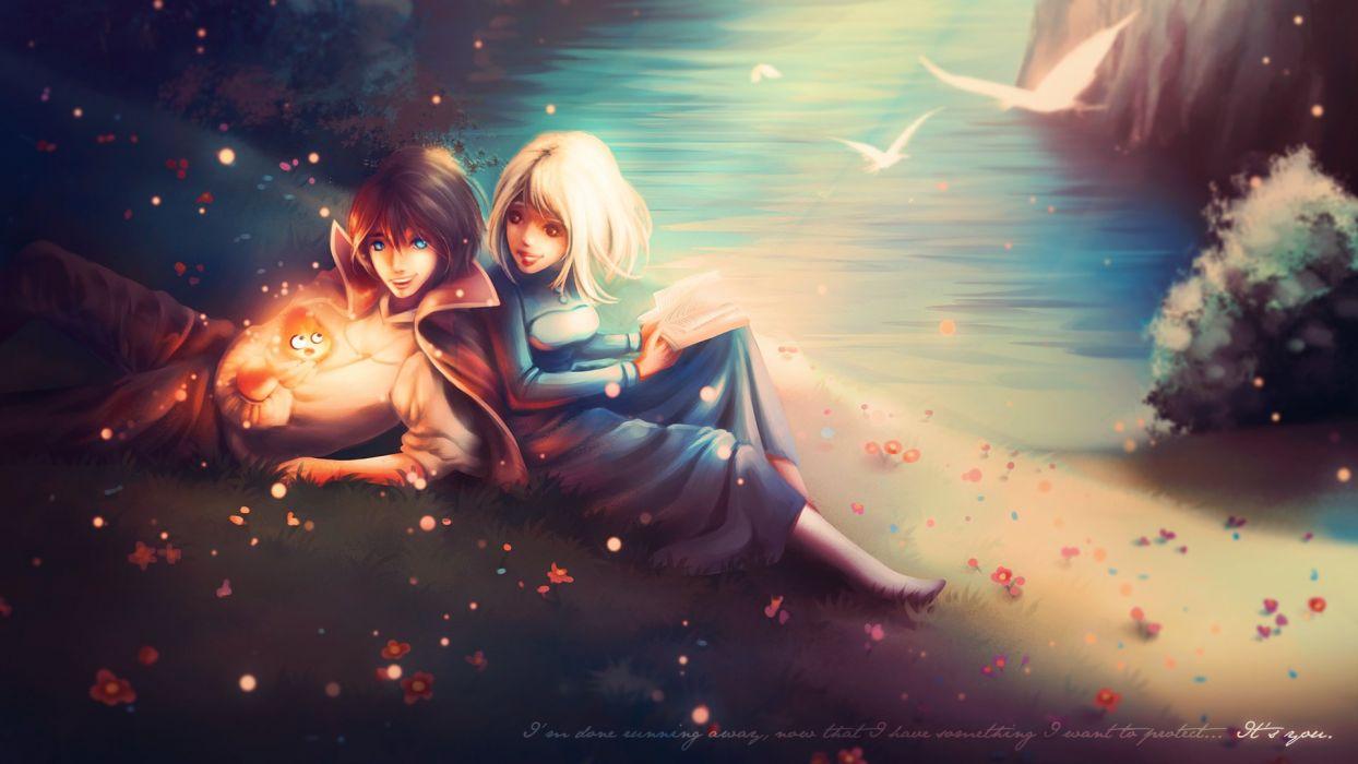 Anime Girls Howls Moving Castle Howl Sophie Guys Two Fantasy