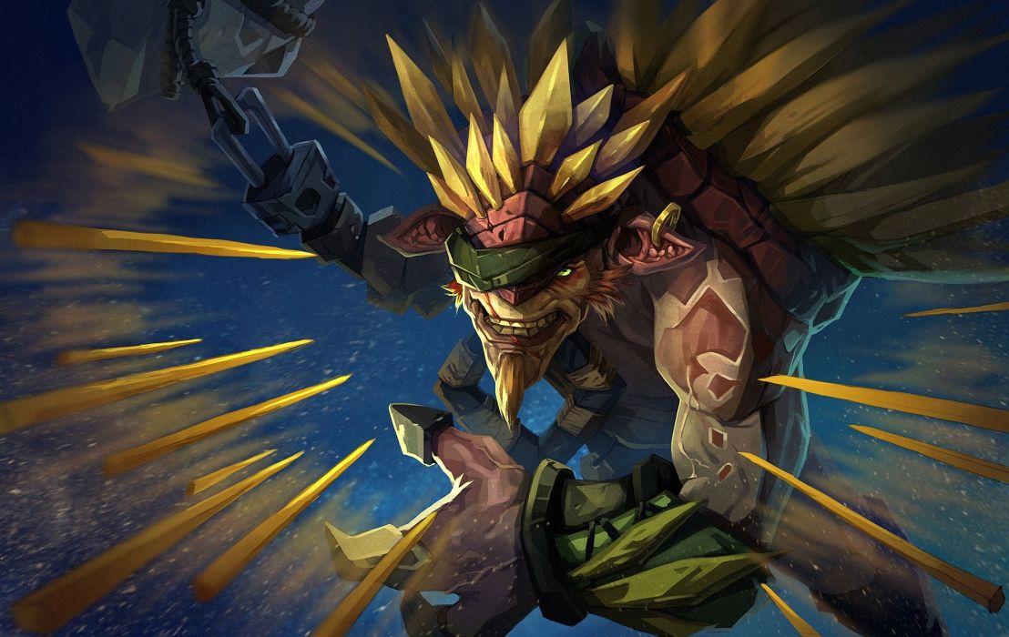 DOTA 2 Monster Battle Bristleback Games Fantasy wallpaper