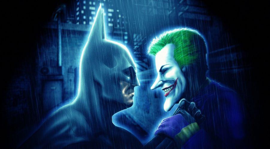 Heroes comics Batman hero Joker hero Rain superhero dark knight wallpaper