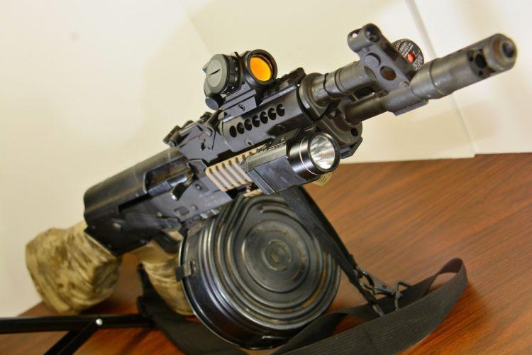 Assault rifle Draco AK-47 Army weapon gun military russian wallpaper