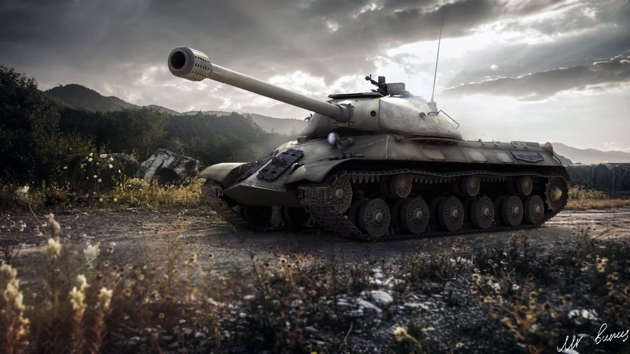 World of Tanks Tank USSR is-3 Games Army russian military weapon cannon wallpaper