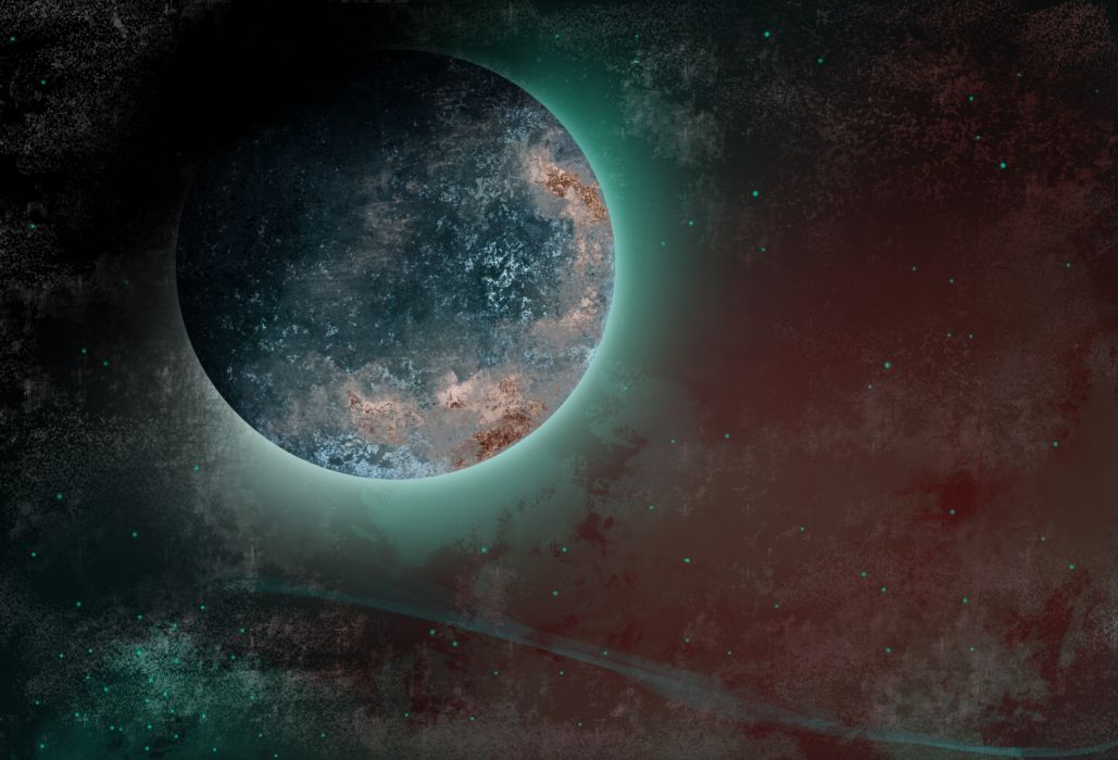 Planet Space stars sci-fi wallpaper